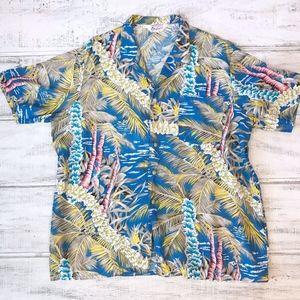 Vintage Tropically Yours Blue Hawaiian Shirt